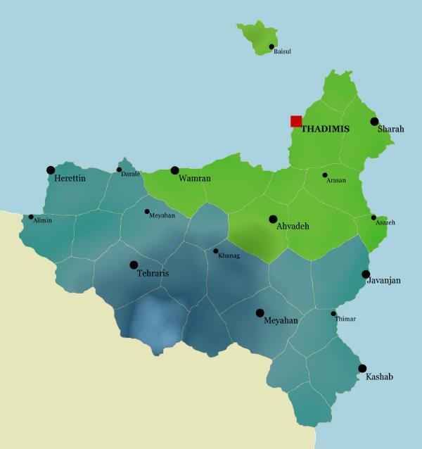 Carte des territoires varanyens