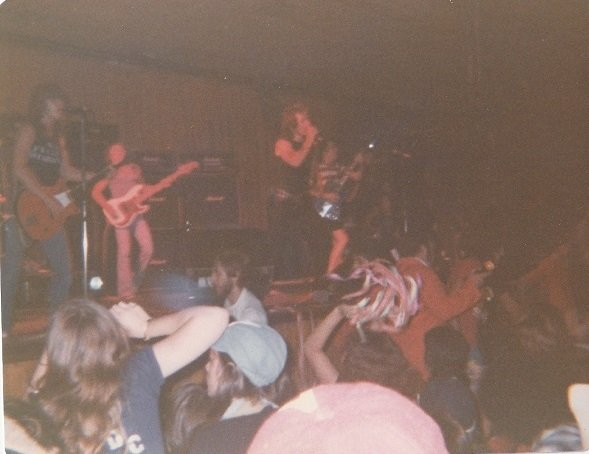 Mark- Malcolm- Bon and Angus 15 Jan 1977- Festival Hall
