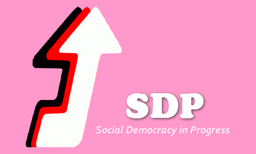 Logo coalition Social Democracy in Progress SDP - Geokratos