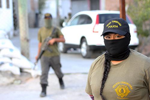 Une patrouille des milices communautaires anti-immigration.