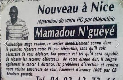 Mamadou N'guéyé répare votre PC par télépathie
