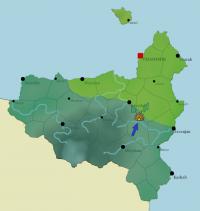 Carte des avancées et replis militaires dans la région de Zangane.