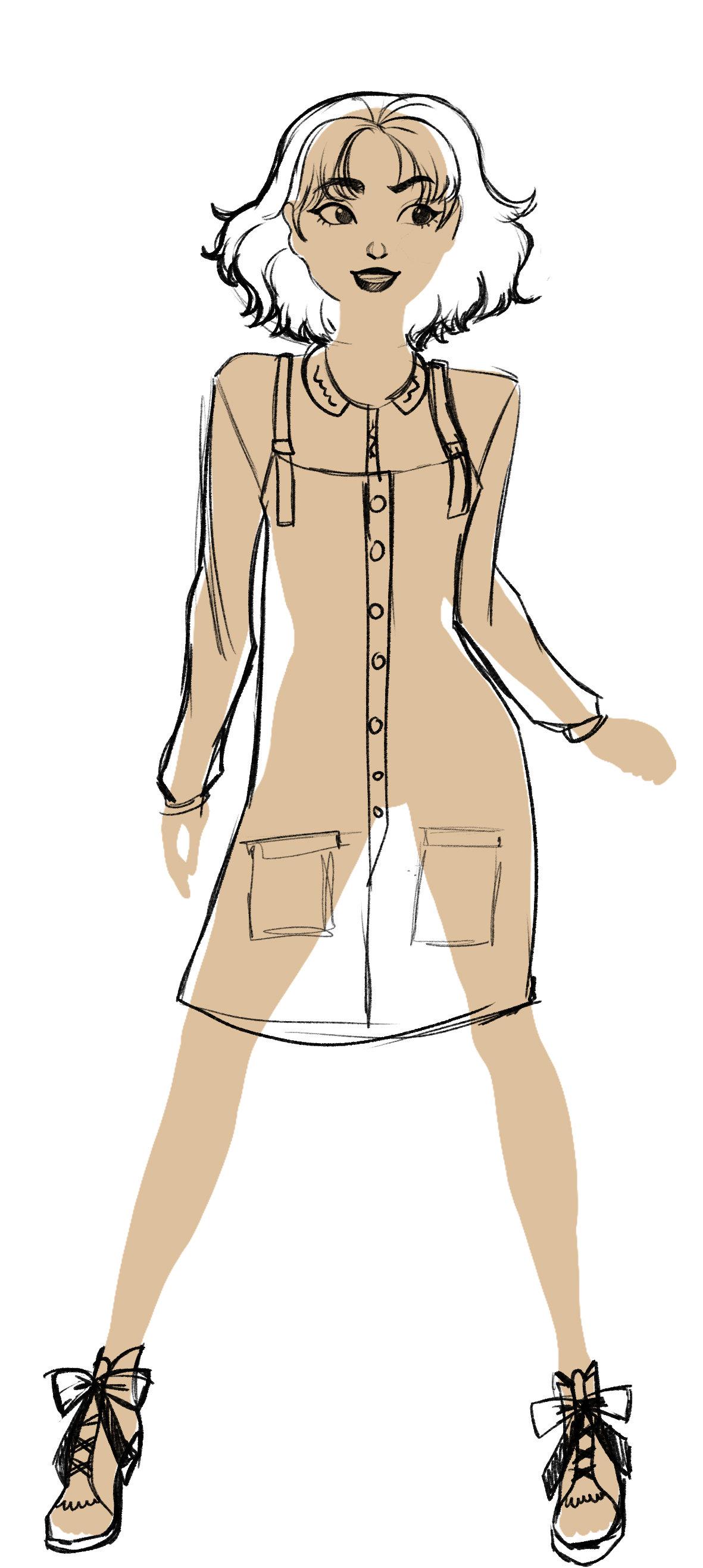 crayonné prochaine tenue