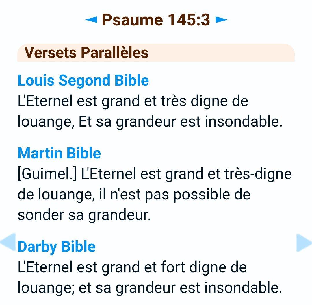 Psaume 145 verset 3