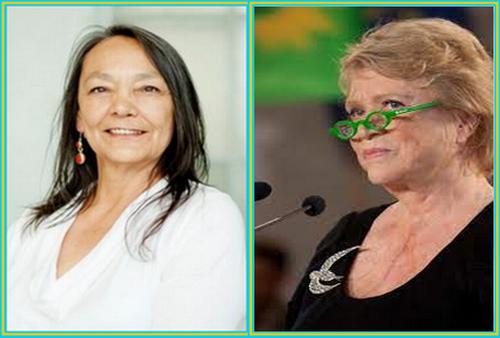 Membres de la délégation arkencane, Présidente Mazeri Abrogara et conseillère fédérale Martha Fulton
