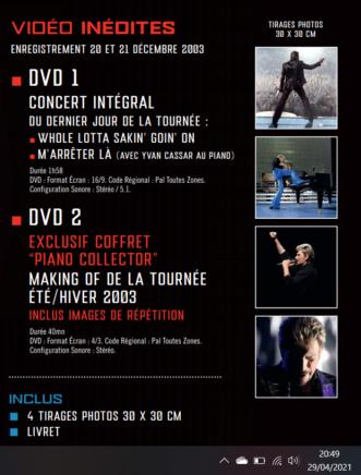 """Sortie coffret dvd """" Bercy 2003 """" - Page 3 210429111339934295"""