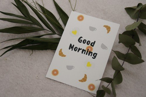 petit-déjeuner carte postale