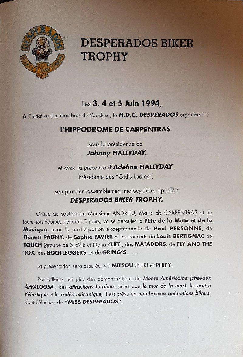 LES CONCERTS DE JOHNNY 'CARPENTRAS, 1994' 210513050035670932