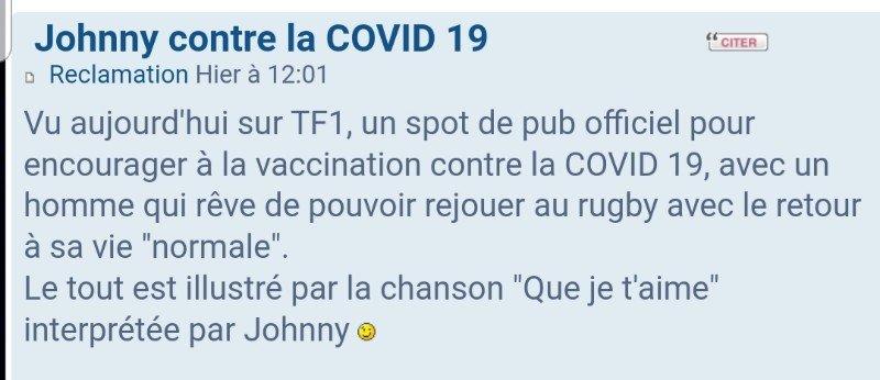Johnny contre la COVID 19 - Page 2 210513063847477968