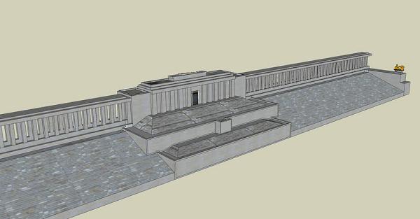 Modèle 3D de la nouvelle tribune militaire