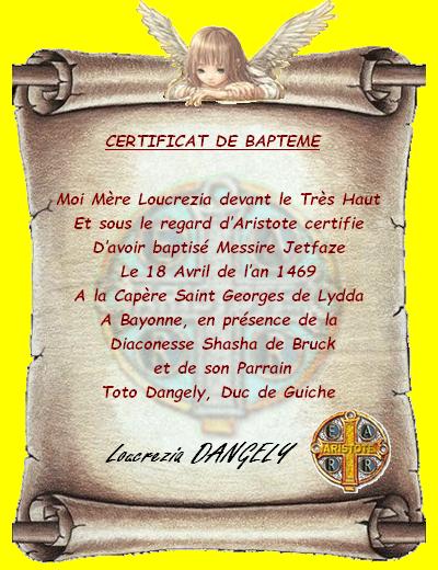 Certificat de Baptême