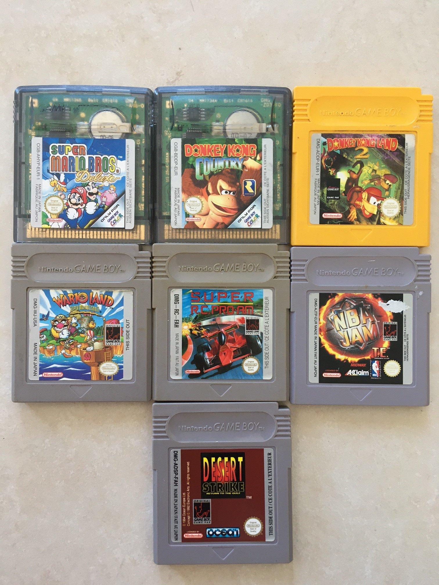 [VDS/ECH] lot jeux GB et boitiers GB + lot jeux PS1 + boites consoles PS4  + super SF2 complet FAH  210613052127684191