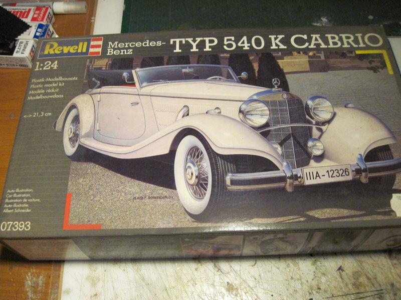 MERCEDES 540K roadster 1937 REVELL 1/24 210620072830113260