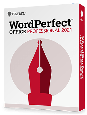 Poster for Corel WordPerfect Office Professional 2021