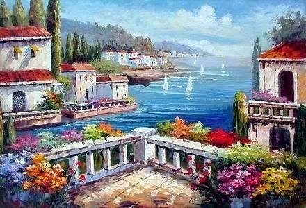 China_oil_painting_Mediterranean_Sea20094111523009