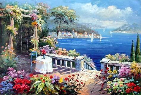 oil-painting-a-miniature-painting-mediterranean