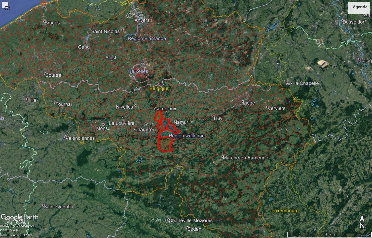 [KML] Limites des communes et arrondissements de Belgique avec Google Earth 210709081126971618