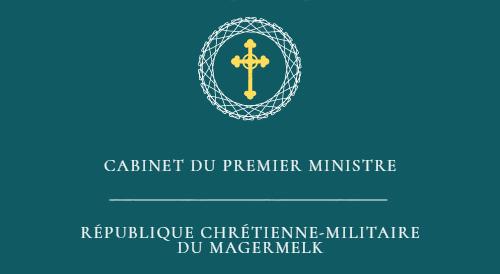 Cabinet du Premier Ministre de la République chrétienne-militaire du Magermelk