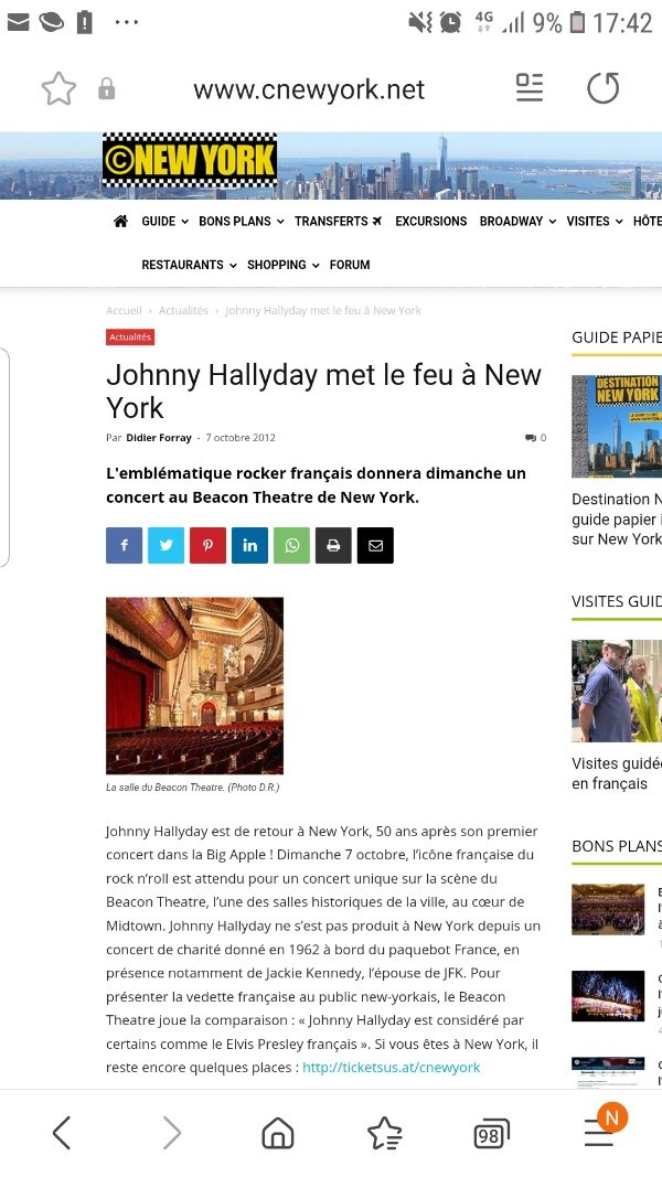 LES CONCERTS DE JOHNNY 'BEACON THEATRE, NEW YORK 2012' 210727064607740204