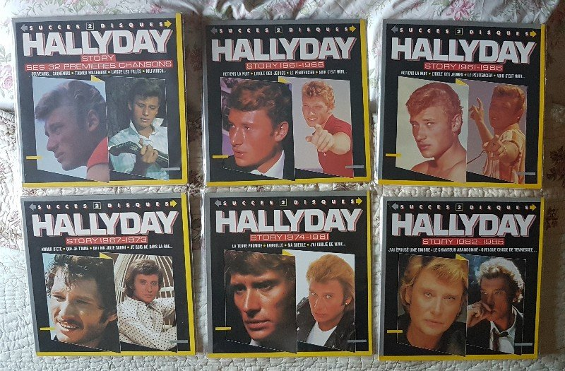 HALLYDAY STORY ( ALBUMS 2 DISQUES )( TOUTES LES EDITIONS )( 1973 - 1988 ) 210727100843233610