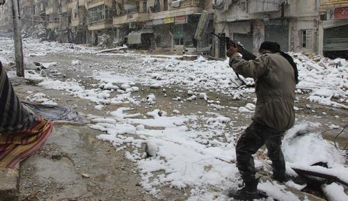 Affrontements de l'hiver 2004 aux abords d'Ahvadeh.