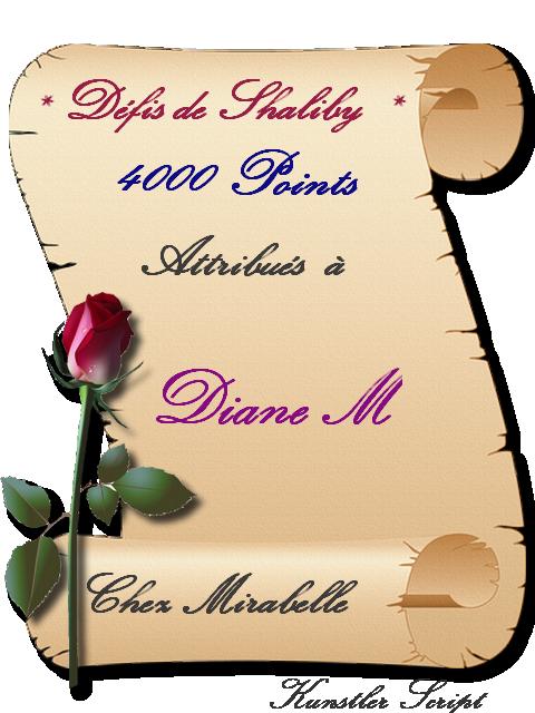 """Récompense : Diane M-4000 pts """"Défis de Shaliby"""" 210808071315358785"""