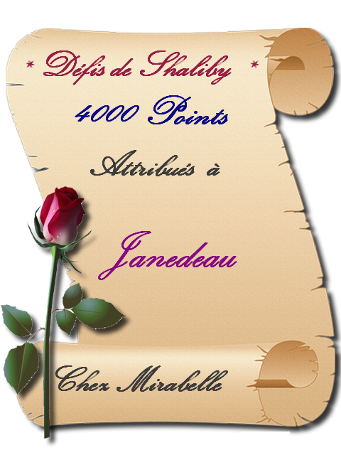 """Récompense : Janedeau-4000 pts """"défis de Shaliby """" 210808071829166380"""