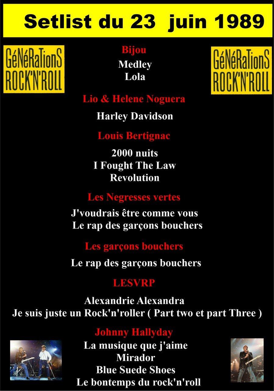 LES CONCERTS DE JOHNNY 'GENERATION ROCK N ROLL, PALAIS DES SPORTS 1989' 210822014959385850